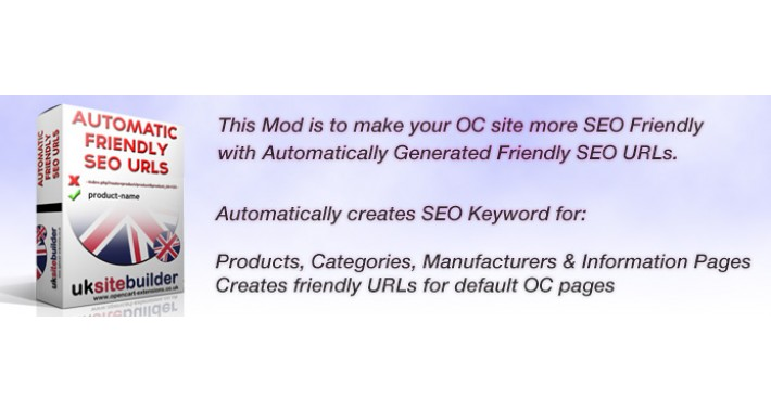 Automatic Friendly SEO URLs