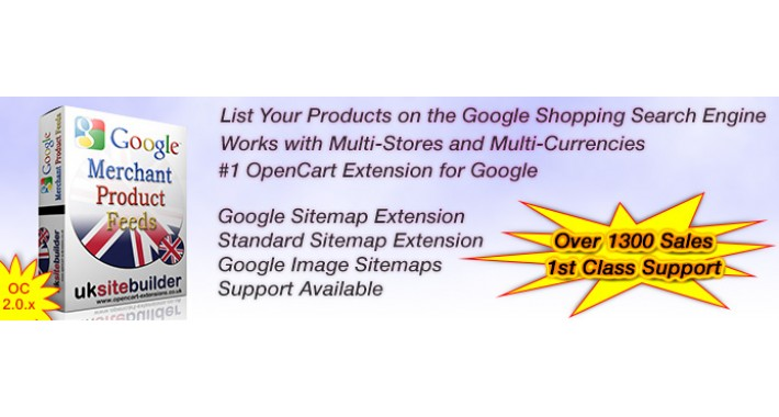 google merchant shopping feeds xml sitemaps oc 2 x