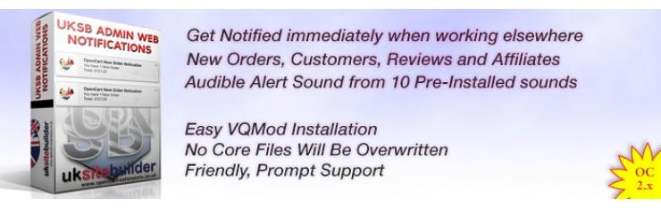 Admin HTML5 Web Notifications